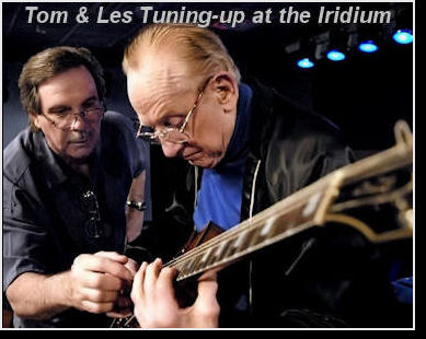 Tom Doyle -Les�s personal luthier, guitar tech, engineer, and good friend of 45 years